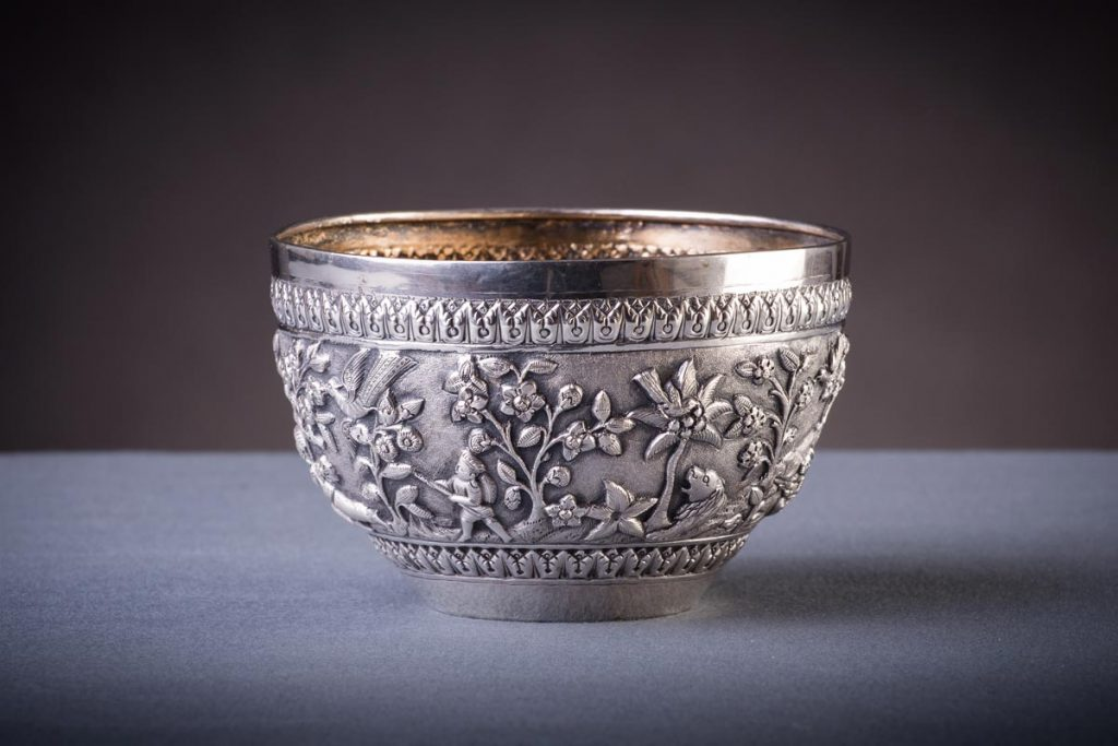 A 19th Century Indian silver bowl